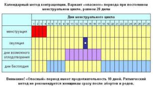 Расчет овуляции при нерегулярном цикле