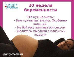 Питание на 20 неделе беременности