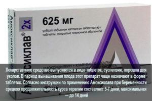 Амоксиклав при беременности 2 триместр