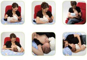 Как правильно прикладывать ребенка для кормления сидя