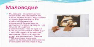 Причины маловодия при беременности в 3 триместре