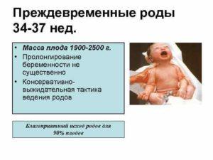 Признаки преждевременных родов на 34 неделе беременности