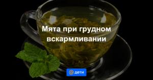 Можно ли кормящей маме мятный чай