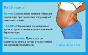 На 15 неделе беременности кровотечение