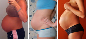Живот на 34 неделе беременности