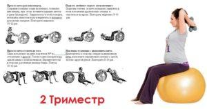 Занятия для беременных 2 триместр на фитболе