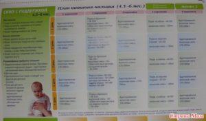 Режим кормления 5 месячного ребенка на искусственном вскармливании