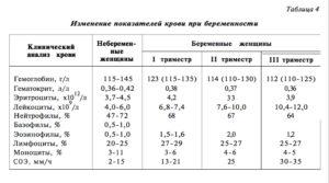 Норма гемоглобина у беременных 3 триместр