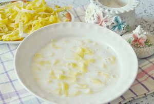 Лапша молочная для ребенка рецепт
