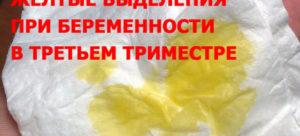 Выделения желтого цвета при беременности в третьем триместре