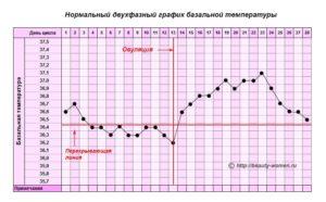 Базальная температура после овуляции