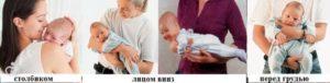 Как держать ребенка столбиком после кормления