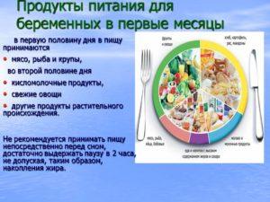 Полезные продукты для беременных в первом триместре