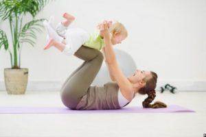 Упражнения для похудения кормящим мамам