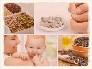 Можно ли кормящей маме семечки жареные подсолнуха в первый месяц