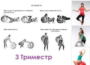 Упражнения для беременных 3 триместр на фитболе