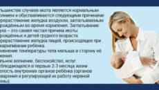 Икает грудной ребенок после кормления что делать
