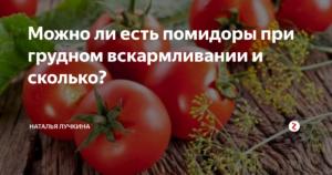 Кормящей маме можно ли кушать помидоры