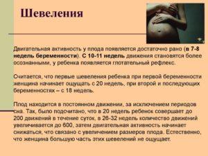 15 недель беременности шевеление плода